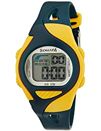 Sonata Super Fibre Digital Grey Dial Men's Watch -NH87011PP04