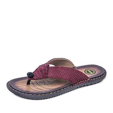 Slippers & amp da uomo;Pelle Primavera Estate Comfort Ufficio & amp esterna;Carriera piano casuale Lui sandali US9.5 / EU42 / UK8.5 / CN43