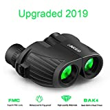 10X25 Binoculars Compact, High Power Mini Binoculars with Carry Bag and Neck Strap