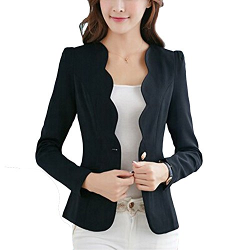 Bobora donna formale business giacca cappotto casual jacket slim candy color long sleeve tops