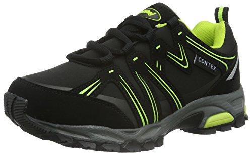 Conway 607381, Baskets Basses mixte adulte Noir - Schwarz (schwarz/grün)