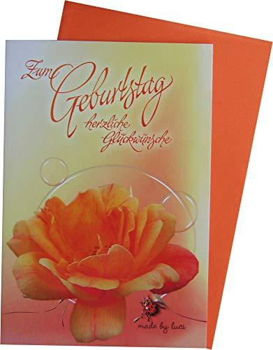 Glückwunschkarte Grußkarte Geburtstag 80-51028