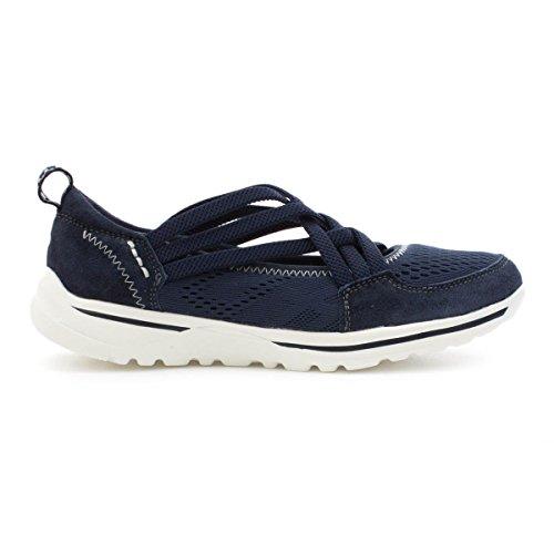 Earth Spirit Chaussures Sporty en cuir pour femme Bleu marine Bleu - bleu