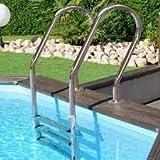 Scaletta inox per piscine in legno o interrate
