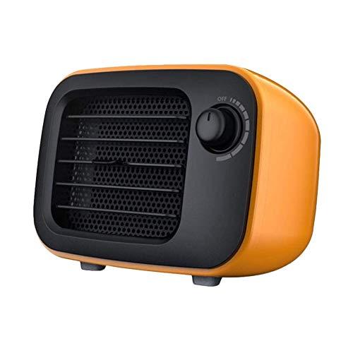 Suyoo Mini Excel Eco- Calefactor cerámico de rápido calentamiento con potencia regulable de 500W, termostato, Calentador de Ventilador Protección contra Sobrecalentamiento Función de Silencio, Naranja