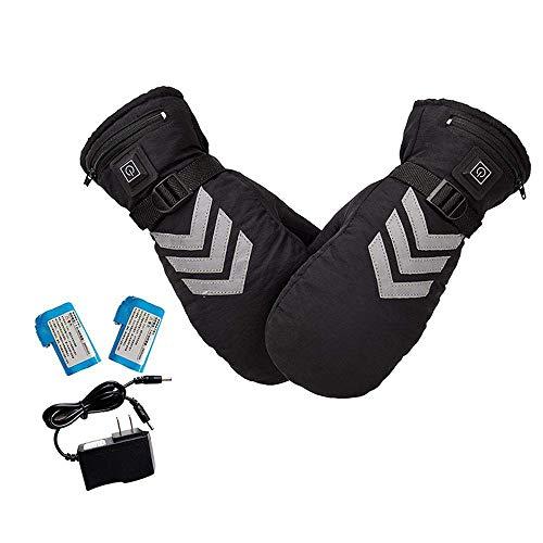Covok guanti riscaldati ciclismo litio impermeabili | guanti riscaldati usb per uomini/donne | per sci,scooter,ciclismo,moto,lavoro | nero
