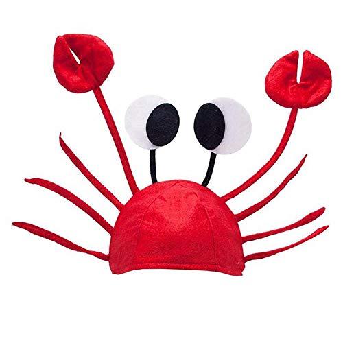 GAOXUQIANG Lustiges Weihnachtsrotes Hummer-Krabben-Seetierhut-Kostüm-zusätzliches erwachsenes - Kapitän Schatz Kostüm