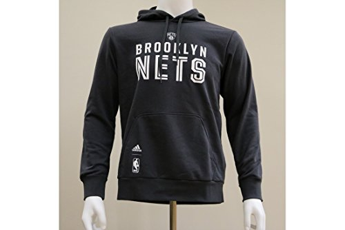 2015 Brooklyn Nets Adidas NBA Hoodie (Black) Gris