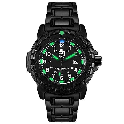 Xenon Luminous Men ' S Watch, Outdoor Sports Multi-Function Waterproof Men ' S Quarz Watch,Green