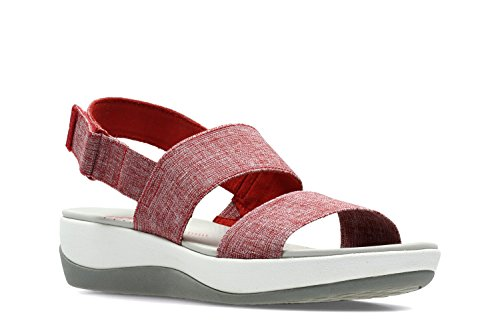 clarks-womens-casual-clarks-arla-jacory-textile-sandals-in-red-white-standard-fit-size-6