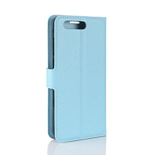 Qiaogle Telefon Case - PU Leder Wallet Schutzhülle Case für Apple iPhone X (5.8 Zoll)- FC04 / Rote Klassische Solid Color Geschäfts art FC01 / Braun Klassische Solid Color Geschäfts art