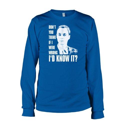 TEXLAB - TBBT: Don't you think... - Langarm T-Shirt Marine