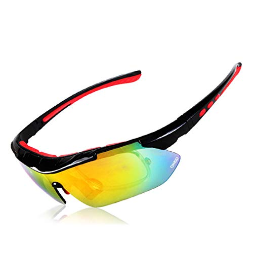 Polarisierte Sonnenbrille mit UV-Schutz Polarisierte Sport-Sonnenbrille mit unzerstörbaren Rahmen Wechselobjektiven für Männer Frauen UV-Schutz für Laufen Radfahren Baseball Fischen Fahren. Superleich