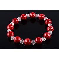 Boviswert Armband,100% Echte Edelsteine, Mashan Jade- 10mm und Rosenquarz Perlen 6mm. preisvergleich bei billige-tabletten.eu