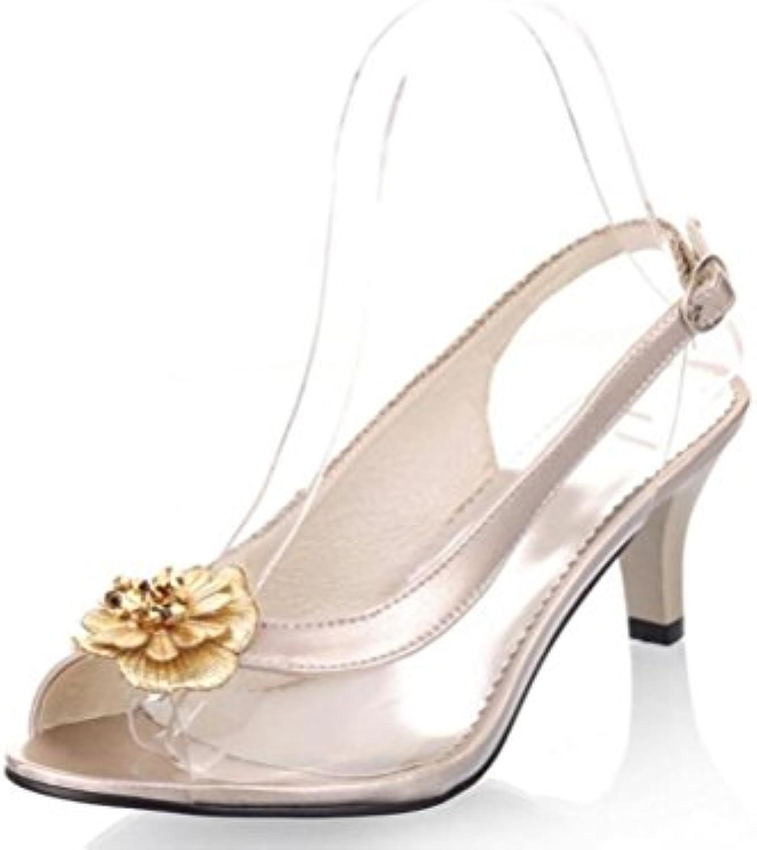 xie Chaussures Femmes  s stéréo stéréo en Vert Vert Vert Transparent 30-46 Confortable Débardeur antidérapant PU Boucle...B07G9128PTParent | La Qualité  b6dd58