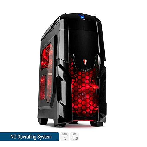 Sedatech - PC Gamer Advanced Intel i5-7500 4x3.40Ghz, Geforce GTX1050 2048Mo, 8Go RAM, 1000Go HDD, 120Go SSD, USB 3.0, Wifi, Alim 80+, sans OS - Unité centrale idéale pour une utilisation PC Gamer, Ordinateur Gamer, PC Gaming, Jeux vidéo, Multimédia, Gaming PC, Ordinateur de bureau