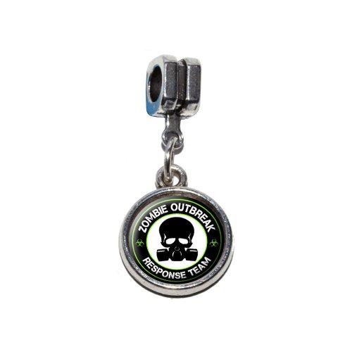 Zombie Outbreak Response Team Grün auf Schwarz–Gasmaske Skull -