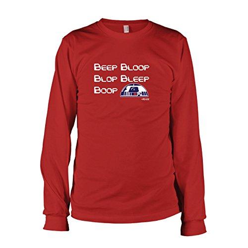 TEXLAB - R2 Sound - Herren Langarm T-Shirt, Größe XXL, rot
