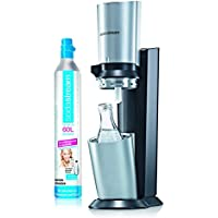 SodaStream CRYSTAL Noir - Machine à eau pétillante avec bouteille en verre 0.6L et cylindre de CO2