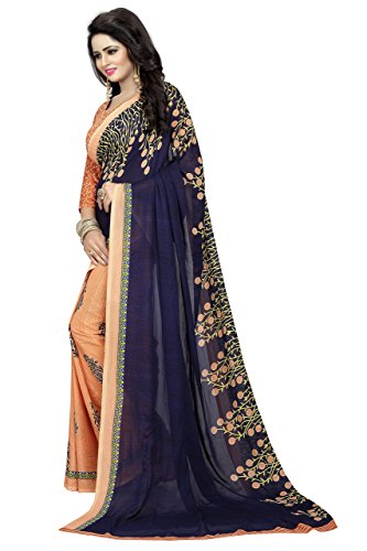00761abe7d 23% OFF on SARGAM FASHION Women's Georgette Saree With Blouse Piece ...