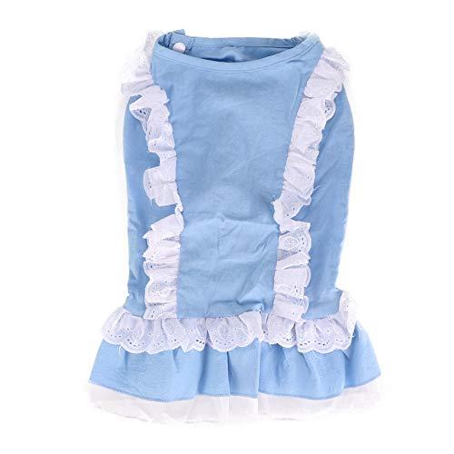 Verschönert Mädchen-socken (Bicaquu Hund Prinzessin Kleid kleines Haustier welpen niedlichen charmanten Nachahmung Denim Tutu Spitzenrock Kleidung(XL))