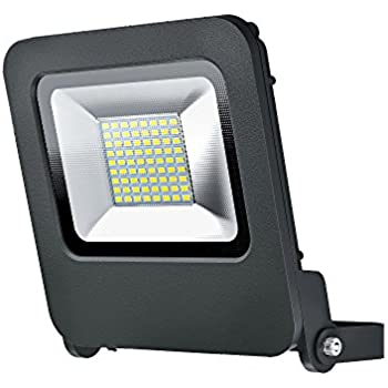 Flood Extérieur Orientable Chaud 3000k Etanche Blanc 50w 4000 Projecteur Osram Lumen Anthracite Led Gris Endura Ip65 180° wkn0PO