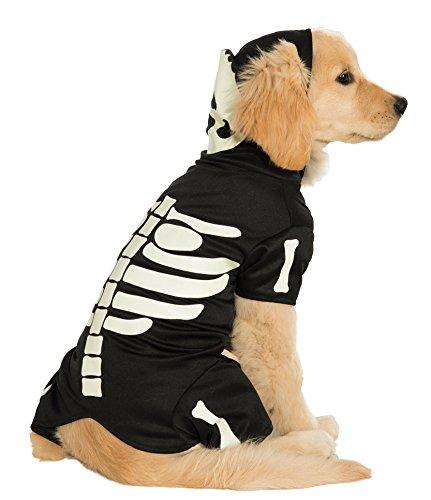 leuchtendes Skelett Hoodie Pet Kostüm, XXXL (Elvis-hund Halloween-kostüme)