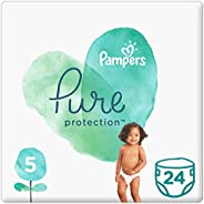 Pampers Pure Protection, Size 5, 11+ kg, 24 Diapers