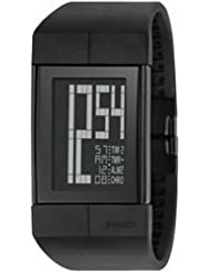 Philippe Starck PH1110 - Reloj de caballero de cuarzo, correa de goma color negro