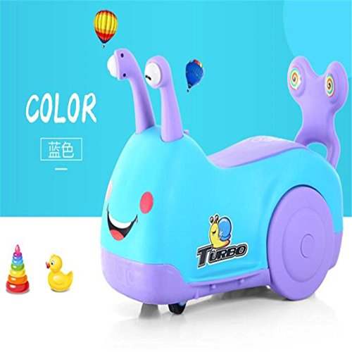 Spielzeugauto 1-5 Jahre alte Schnecke mit Musik Baby Schaukel Schritt Auto , C (Schritt 2 Blaue Wagen)