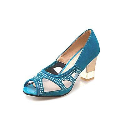 LvYuan Sandali-Matrimonio Formale Casual-Comoda Innovativo Club Shoes-Quadrato-Felpato Materiali personalizzati-Nero Blu Verde Rosso Blue