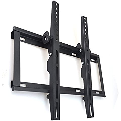 Sunydeal TV Soporte de Pared con inclinación 15°VESA 400x400 para TV Televisor 18 22 26 28 30 32 37 39 40 42 43 pulgada Hasta 36kg para Samsung, Panasonic, Sony, FINLUX, Hisense LG Seiki ProScan DIGIHOME Toshiba LCD LED HD Smart Plasma TV Display