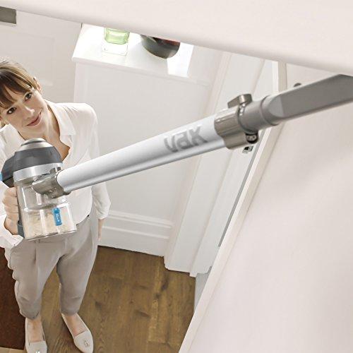 41CjaprN7jL. SS500  - Vax Cordless SlimVac Vacuum Cleaner, 0.6 Litre, 18 V, 130 W, Silver/Blue
