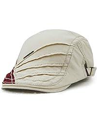 Fuxitoggo Algodón Casual Comodidad Unisex Boinas Durable Sombrilla  Ajustable Vintage Plano Gatsby Pato de Pato Pintor Vendedor de… 84c7ad73e96