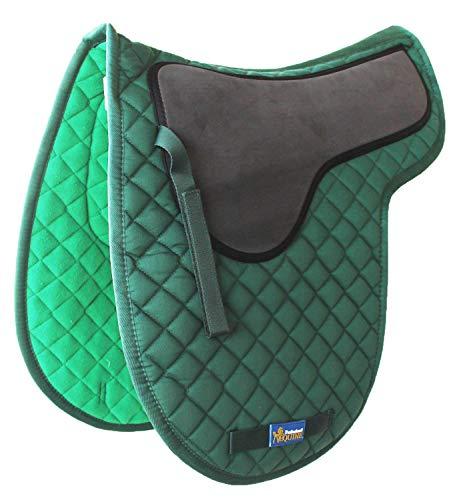 Tackus Pferd Baumwolle Gesteppt Englisch Sattel Pad Trail Konturierte Gel Hunter Grün 72F24 -