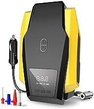 Air Compressor Tire Inflator, DC 12V Portable Air Compressor for Car Tires, 150 PSI Tire Pump with LED Light,
