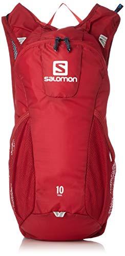 Salomon Mochila para running y senderismo 10L, trail 10, rojo y gris (Graphite)