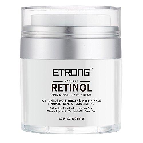 Retinol Moisturizer Cream,Melao Anti-aging Wrinkle Night/Day Cream for Face and Eye with 2.5% Retinol,Hyaluronic,Vitamin E and Jojoba Oil (Classic)