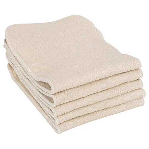 Earthtopia 5er Set Waschbare Windeleinlagen aus Hanf und Baumwolle | natürliche Booster-Einlage für Stoffwindeln | 5 Stück