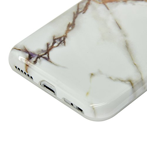 iPhone 5S Marmor Hülle,iPhone 5 Marble Case,Sunroyal Kreative Stylish Schickes Retro Elegant Schön Luxus Schwarz Grain Stein Pattern Silikon Handyhülle Weiß Stein Glamour Ultradünn Marble Malerei Must Pattern 30