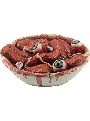 Party Palast - Zombie Horror Gourmet Mahlzeit Essen aus blutigen Zungen Zähnen und Augen, Halloween Dekoration Deko, ideal für Jede Halloween Party / Feier, Rot (Zombie Halloween-party Essen)