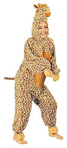 K332539-46-48-A beige Damen Herren Giraffen Kostüm-Overall Gr.46-48