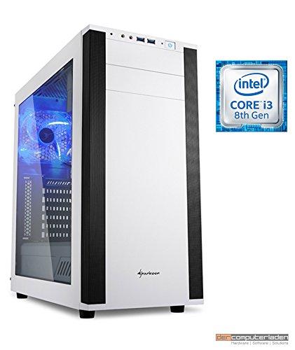 Aufrüst Gaming PC M25W Intel, i3-8100 4x3.6 GHz, 8GB DDR4, Intel UHD Grafik 630 1GB, Spiele Computer zusammengestellt in Deutschland Desktop Rechner