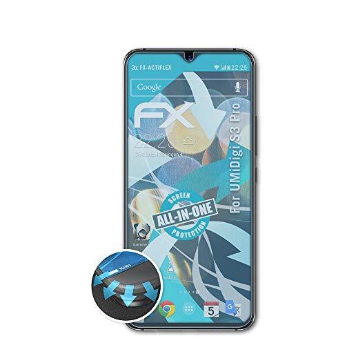 atFolix Schutzfolie passend für UMiDigi S3 Pro Folie, ultraklare & Flexible FX Bildschirmschutzfolie (3X)