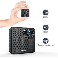 1080P HD Mini kamera ,Überwachungskamera FREDI , Tragbare Kamera Wlan Sicherheit Kamera Kleine IP Kamera Überwachungskamera mit Bewegungserkennung bis zu 128GB )