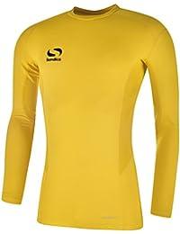 Sondico Base Core Hombre Baselayer Manga Larga Cuello Redondo Camiseta  Interior para función Amarillo L 7bb910b638f11