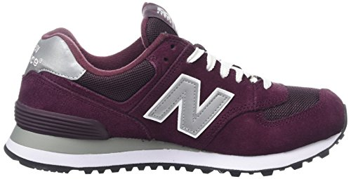 New Balance Herren M_w574 Low-Top Mehrfarbig (Red/Grey/White)