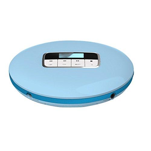 Fanxing Men's Fashion HOTT Hifi Audio CD Player Mini Portable CD511 CD Players With LED Display (Blue)