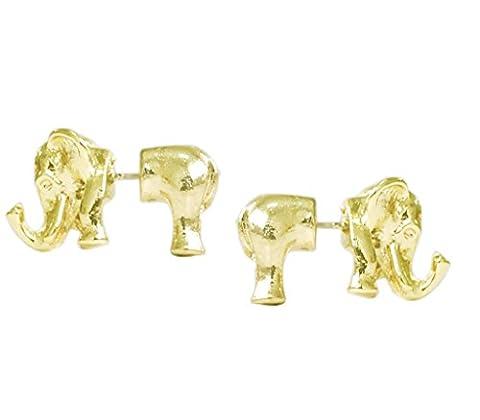 Elefantenohrringe Silber überzogener vorderer und hinterer Bolzen-Nickel geben Hypoallergen für Frauen einzelne frei