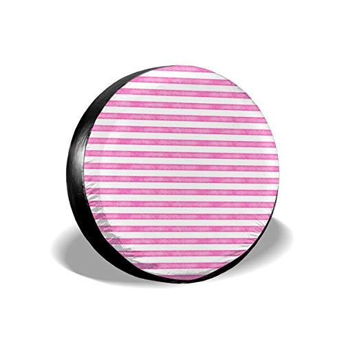 Sula-Lit Autoreifen und Radabdeckungen, Salz Aquarell, Streifen, Hot Pink, für Jeep Camper Wohnmobil SUV LKW Radschutz-Zubehör 35,6 cm (14 Zoll) (Aquarell - Salz-und)